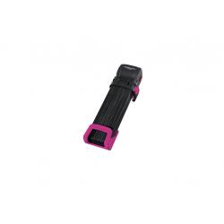 Lucchetto pieghevole Trelock Trigo L con supporto FS 300/100, rosa