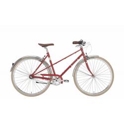 """EXCELSIOR Bici da città donna """"Vintage"""", 3V Nexus contropedale, Red"""