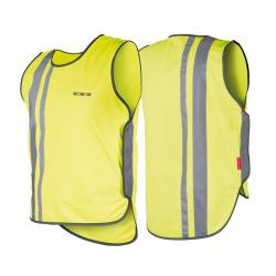 Gilet di sicurezza Wowow per adulti giallo con strisce riflet.e velcro T.XXL