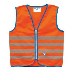 Gilet di sicurezza Wowow Fun Jacket per bambini arancio con fasce riflTg.M