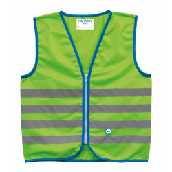 Gilet di sicurezza Wowow Fun Jacket per bambini verde con fasce rifl Tg. S