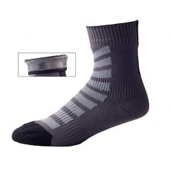 Calze SealSkinz MTB Ankle cn Hydrostop T. S (36-38) nero/grigio impermeabile
