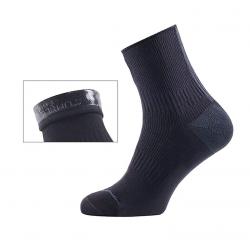 Calze SealSkinz Road Ankle Hydrostop T. XL (47-49) nero/grigio impermeabile