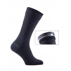 Calze SealSkinz RoadThin Mid Hydrostop T. L (43-46) nero/grigio impermeabile