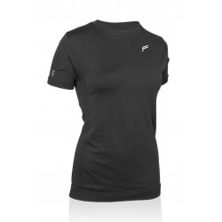 T-Shirt F donna Merino nero. T.L (42-44)