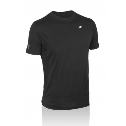 T-Shirt F uomo Merino nero. T.XL (54-56)