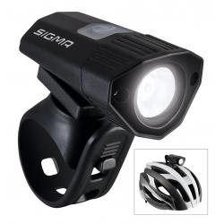 Fanale LED da casco Sigma Buster 100 nero, supporto in silicone incluso