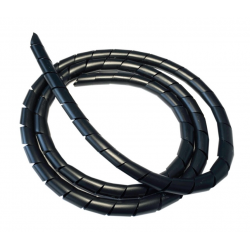 Cavo a spirale nero flessibile, lunghezza 5m, Ø 8 mm, accorciabile