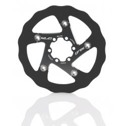 XLC disco freno BR-X76 Ø 160mm nero/titanio