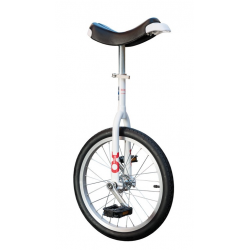 "Monociclo OnlyOne 18"" bianco, cerchi Alu, pneumatico neri"