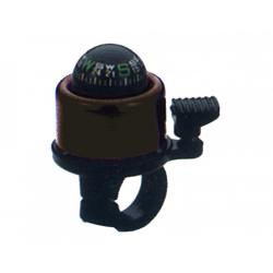 Minicampanello con bussola in Alu, colore nero