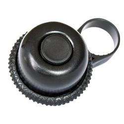 Minicampanello a rotazione Reich per E-Bike, Alu, nero, Ø 22,0-27,0mm