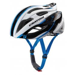 Casco Cratoni C-Bolt (Road) T. L/XL (59-62cm) bianco/nero/blu lucido