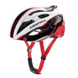 Casco Cratoni C-Bolt (Road) T. M/L (56-59cm) bianco/nero/rosso luc.