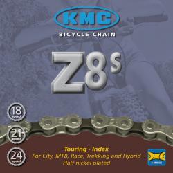 Catena KMC Z 51 1/2 x 3/32, 116 maglie, 8V, argento/marrone