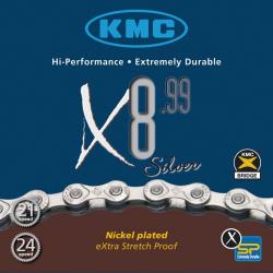 Catena KMC X-8-99, 116 maglie, 7,1mm, 6V-7V-8V
