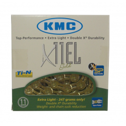 "Catena KMC X-11-EL color oro 1/2"" x 11/128"", 114 maglie, 5,65mm, 11V"