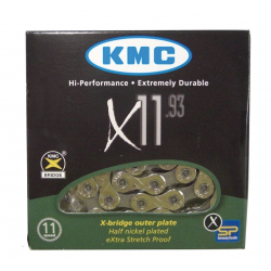 "Catena KMC X-11.93 1/2"" x 11/128"", 118 maglie, 5,65mm, 11V"