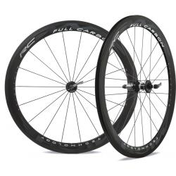 Set ruote Miche neroR Full Carbon RC carbonio/grigio Shimano 9-11V, versione rigida