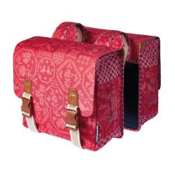 Borsa doppia Basil Boheme vintage rosso con strisce riflett.35lt.