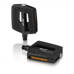 XLC City-/Comfort-Pedal PD-C10 Plastica, superficie Griptape, nero
