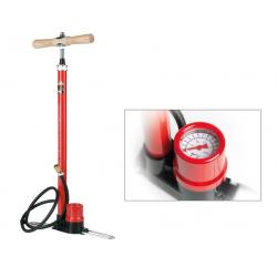 Pompa da pavimento SKS Rennkompressor 50anni rosso, nippel in ottone, attacco VP