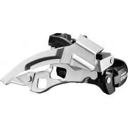 Deragliatore Shimano Deore Top-Swing FD-T 610X3, Dual Pull, 63-66° argento