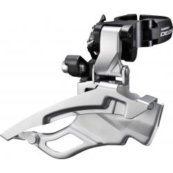 Deragliatore Shimano Deore Down-Swing FD-T 611X3L, Dual Pull, 63-66° argento