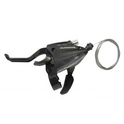 Leva cambio/freno Shimano ST-EF 500 2 dita 3V sinistra, V-Brake, 1800mm, nero