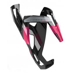 Portaborraccia Elite CustonRacePlus nero lucido/rosa