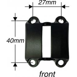 Piastra attacco Speedlifter SDS Alu, 4-fori Ø31, 8mm, nero