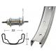 Ruota Posteriore 26x1.75 36F Contropedale acciaio/zinco