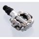 Shimano Pedali Sgancio Rapido SPD-SL PD-M 520 Silver
