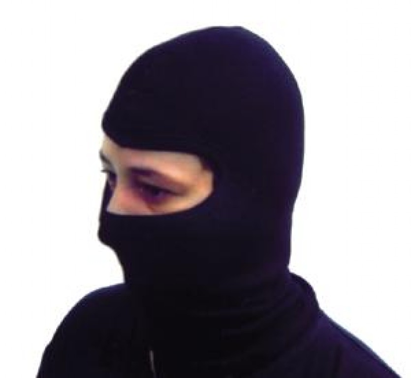 Passamontagna No Logo, colore nero
