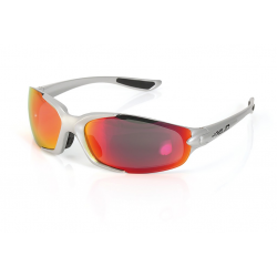 XLC Occhiali da Sole Galapagos silver, lenti arancione a specchio