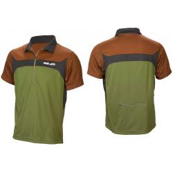 Maglia Freeride Pro XLC JE-S09 verde/nero/marrone
