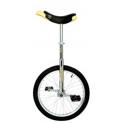 "Monociclo QU-AX 20"" Luxus cromo 1002 con cerchio in allum. ruota, nero"