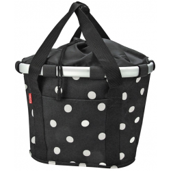 Klickfix City Bikebasket black dots