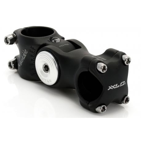 """XLC att.manub. A-Head ST-M02, allu. nero ? 1.1/8"""", 25.4mm,angolo spost.108mm"""