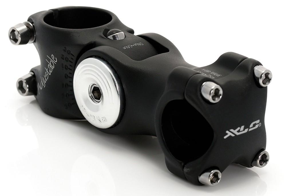 """XLC att.manub. A-Head ST-M02, allu. nero 1.1/8"""", 25.4mm,angolo spost.108 - 128 mm"""