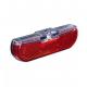Luce post.LED p.dinamo Trelock Duo Flat LS 613DuoFlat nero con luce di posizione