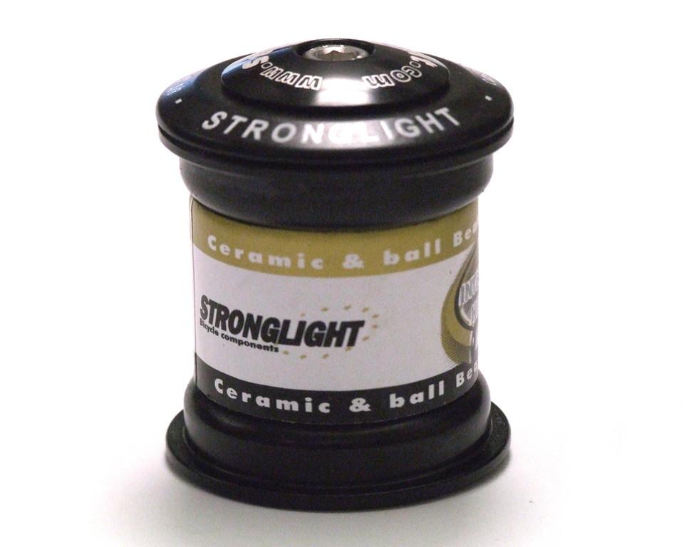 Serie sterzo Stronglight O´Light Steel 1 1/8-1 1/18 nera