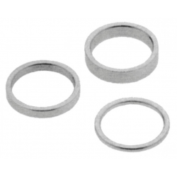 Confezione di distanziali argento 4x2,6x5,6x10,4x15,4x20mm