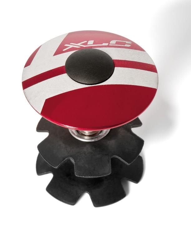 """XLC A-Head Plug AP-S01 1.1/8"""", alluminio rosso"""