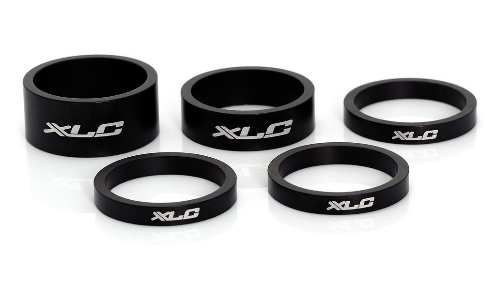 """Set distanziali XLC A-Head 3 x 5, 1 x 10, 1 x 15, 1 1/8"""" nero"""