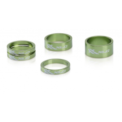 "XLC A-Head Spacer Set AS-A02 3x5, 1 x 10, 1x 5, 1 1/8"" verde lime"