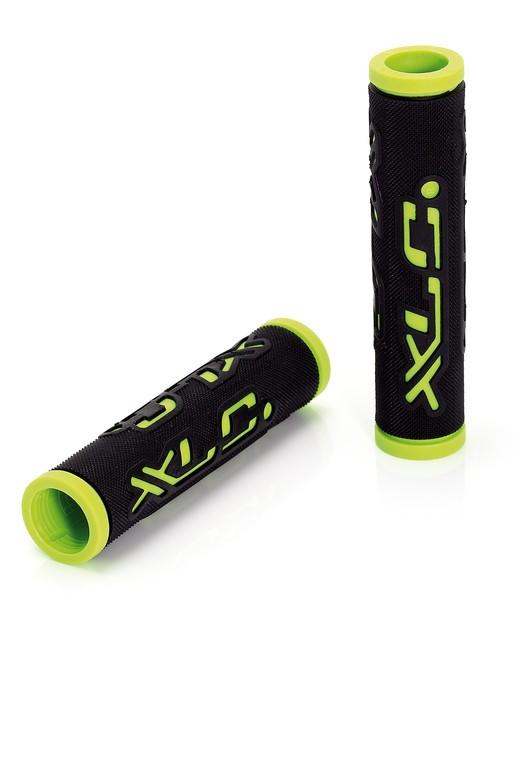 XLC Bar Grips 'Dual Colour' nero/verde 125 mm