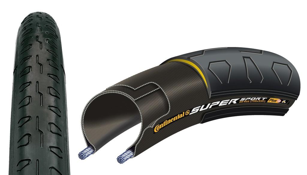 """Conti Super Sport Plus pieghevole 28"""" 700x23C 23-622 nero"""