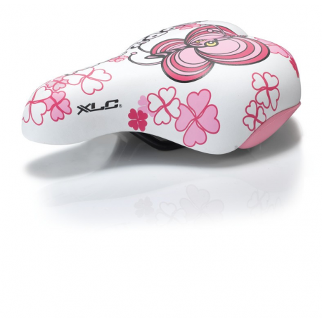 XLC sella da bimba SA-C02, 180x145mm, fantasia rosa, 303g