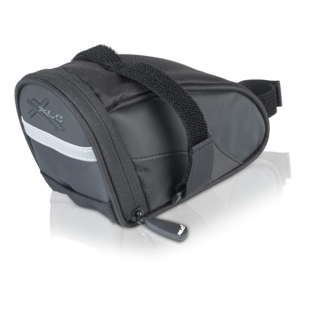 XLC borsa da sella BA-S60 Nera/antracite, 17,5x8,5x11cm 0,8 litri